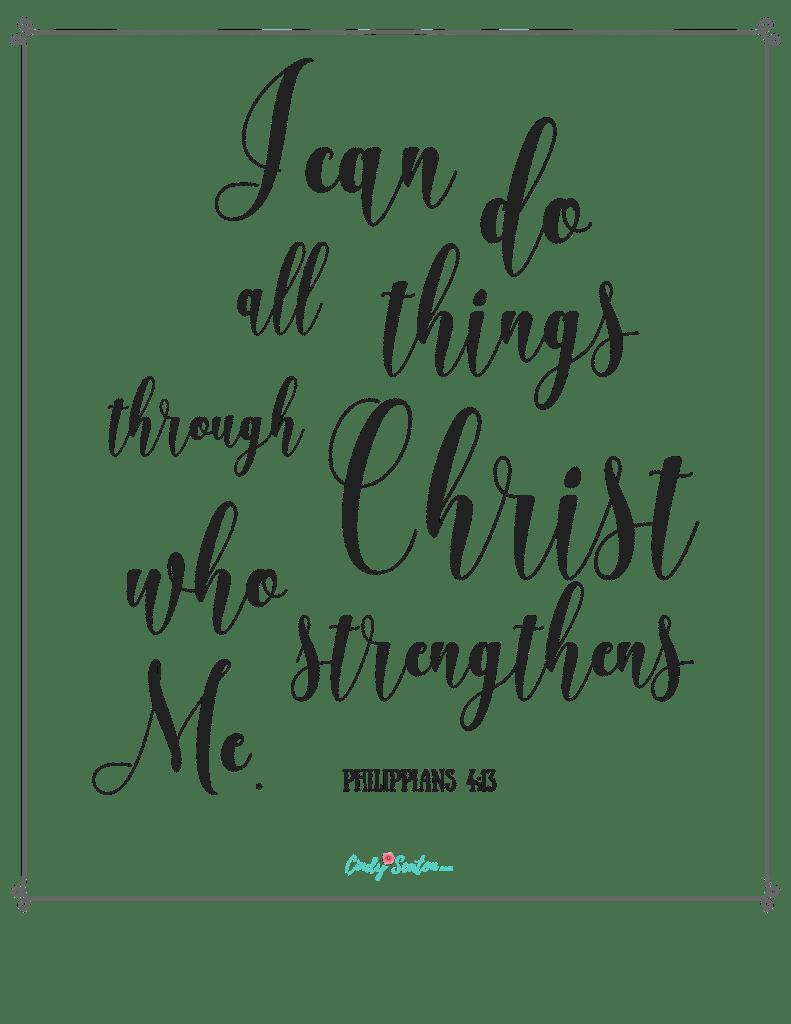 Scripture, Philippians 4:13