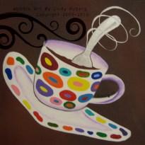 "Silver Spoon: Acrylic on Canvas, 8x8"""
