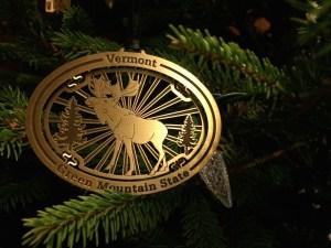 Vermont Christmas Ornament