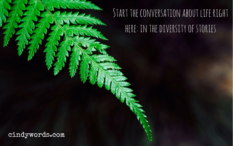 Start the conversation about life right