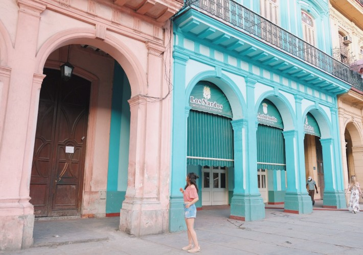 colorful building in Havana Cuba