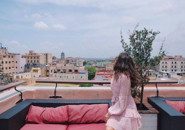 hotel rooftop views Havana Cuba