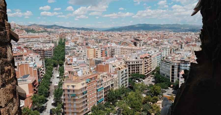 views from top of La Sagrada Familia Barcelona Spain