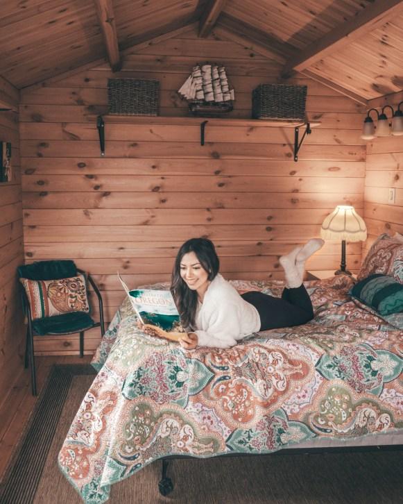 Cindy inside cabin