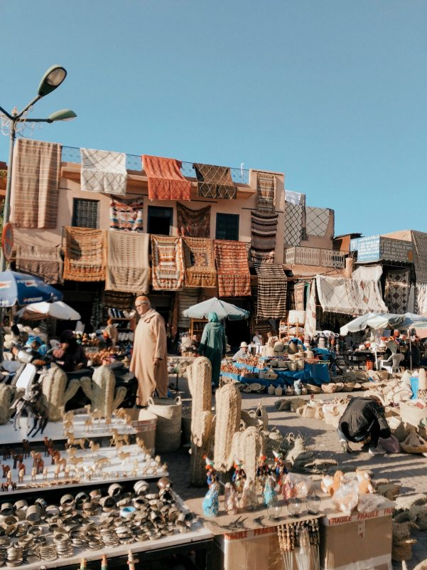 the souks in the Medina of Marrakech