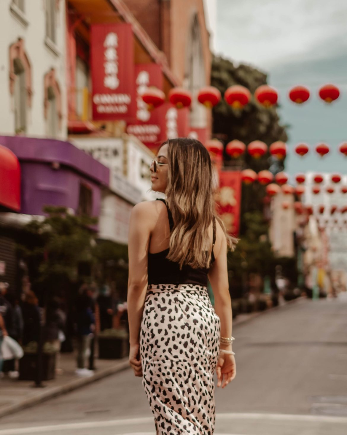 girl in Chinatown with cute outfit - San Francisco