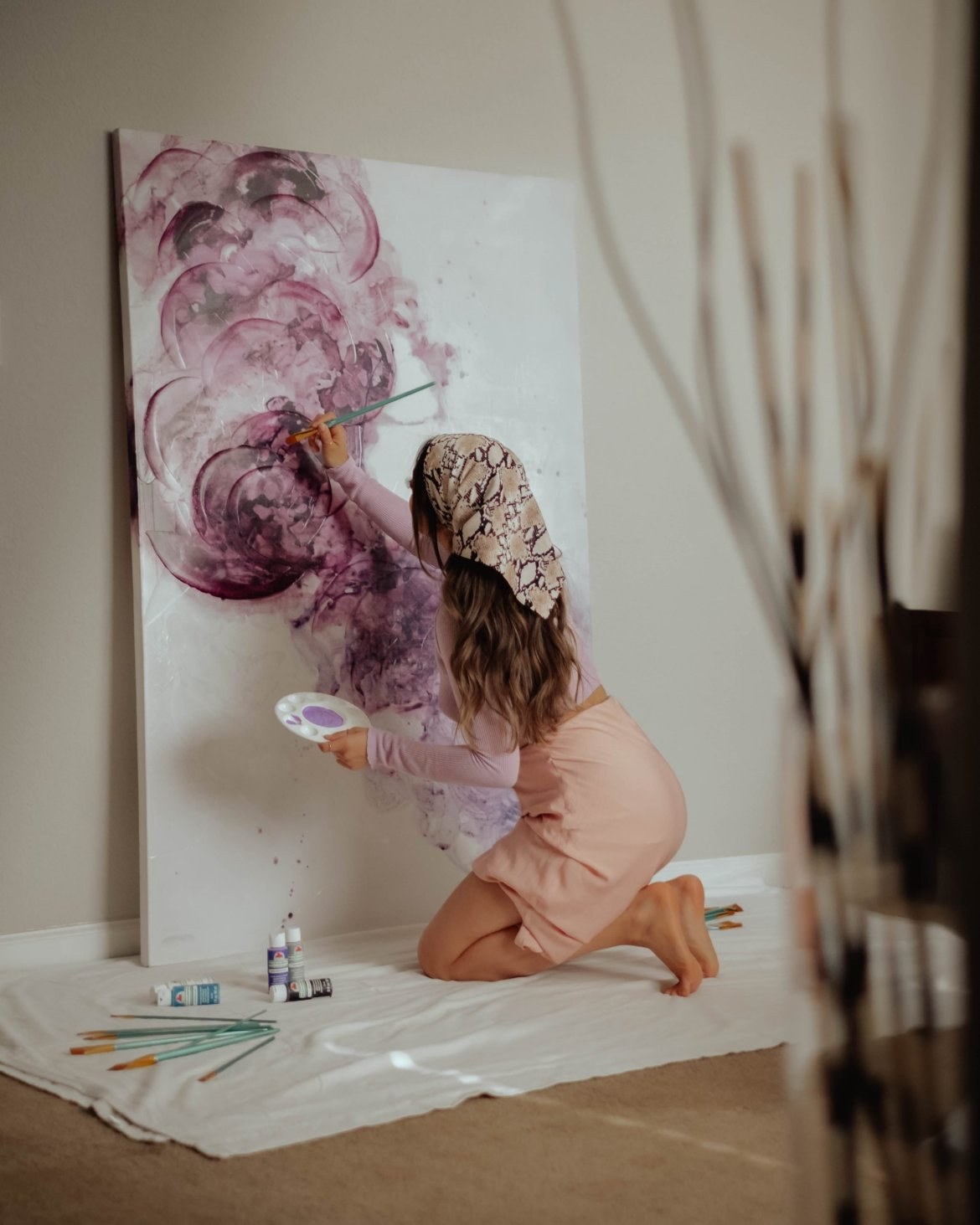 dreamy canvas painting