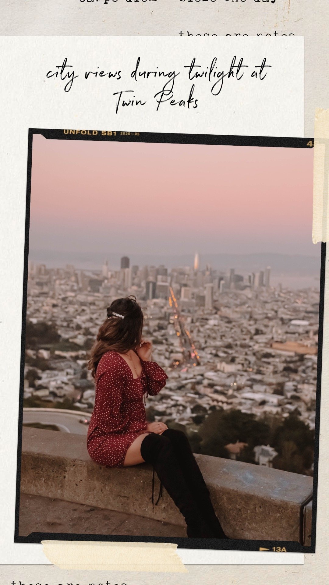 The Perfect 3-Day San Francisco Itinerary | the perfect 3-day itinerary for your next trip to San Francisco. Twin Peaks, San Francisco outfit, San Francisco photo idea, California travel