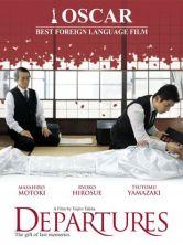 affiche film Departures deuil au Japon rituel soins au mort