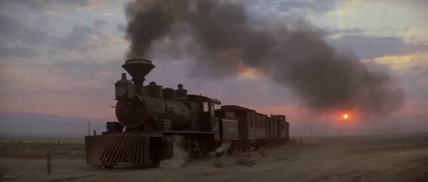 Un vrai western a besoin d'un train. Dans un spaghetti, on doit donc en voler un. Dans un spaghetti parodique, on va le voler dans les toilettes.