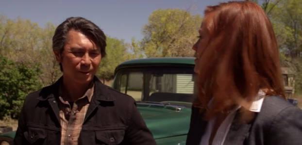 Lou Diamond Philips et Cassidy Freeman dans Longmire