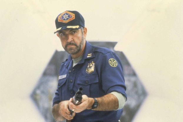 Sean Connery en uniforme de marshal