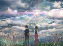 Hodaka et Hina à l'apparition du soleil