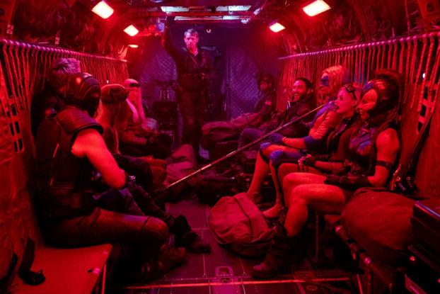 La suicide squad dans l'avion
