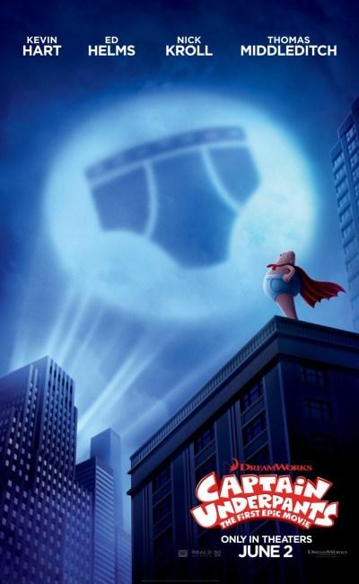 El divertido personaje del libro de Dav Pilkey cobra vida en esta película de animación: Las aventuras del Capitán Calzoncillos (Captain Underpants: The First Epic Movie).