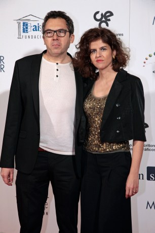 Lorenzo Pascual, editor de Diábolo, y su esposa, Luisa