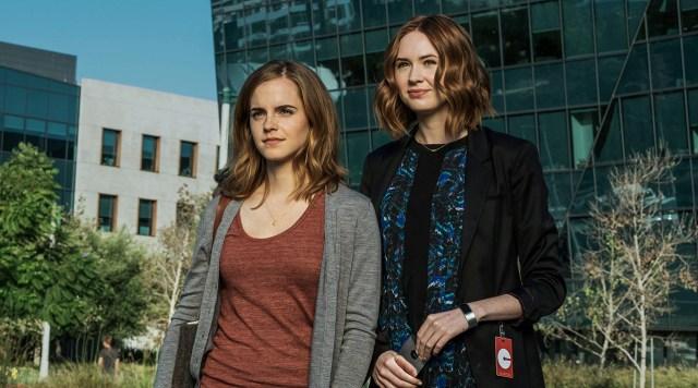Emma Watson and Karen Gillan in The Circle