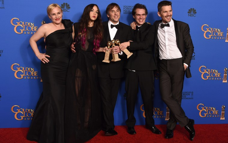 Patricia Arquette, Lorelei Linklater, Richard Linklater, Ellar Coltrane, Ethan Hawke