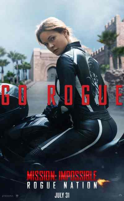 Affiche, film, artiste, Rebecca Ferguson dans le teaser de Rogue Nation