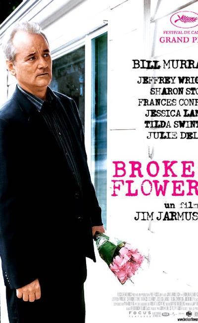 Affiche française de Broken Flowers de Jim Jarmusch