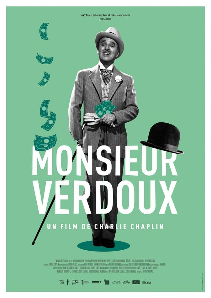 Monsieur Verdoux, affiche de la reprise 2019