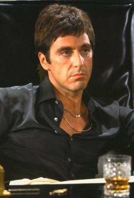 Al Pacino dans Scarface de Brian De Palma