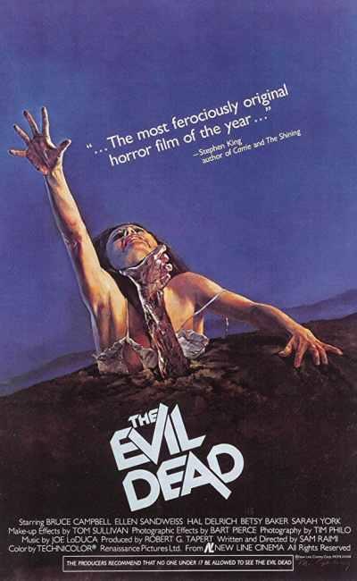 Evil Dead, l'affiche américaine originale