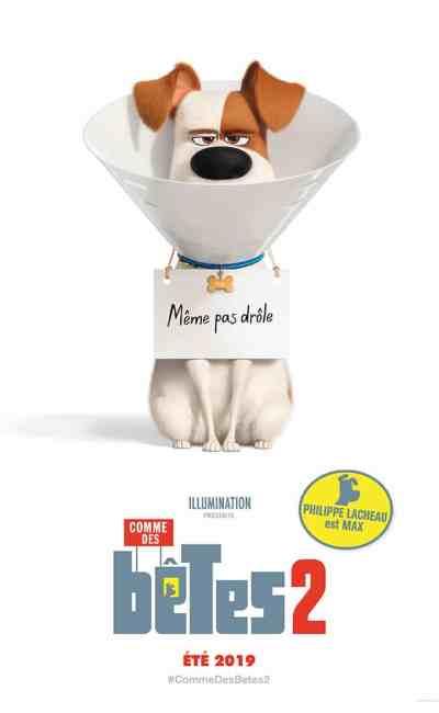 Affiche personnage Max Comme des bêtes 2