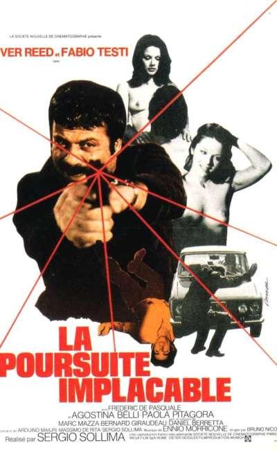 La poursuite implacable, l'affiche française