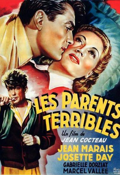 Affiche de Les Parents terribles de Jean Cocteau avec Jean Marais