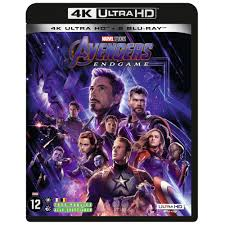 Jaquette du Blu Ray 4K D'Avengers Endgame