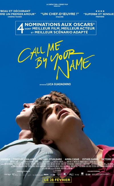 Affiche de Call be by your name de Luca Guadagnino