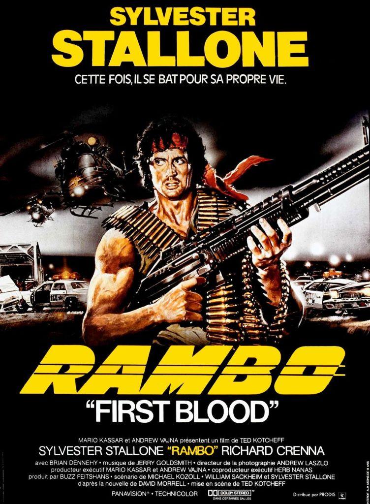 Affiche originale du film RAMBO FIRST BLOOD