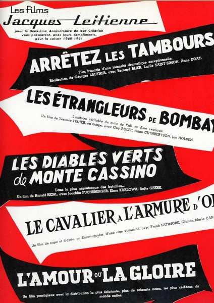 Les Films Jacques Leitienne, 1960