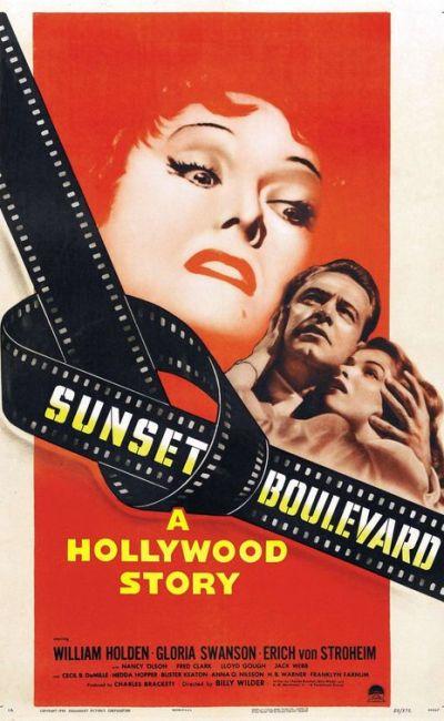 Affiche de Sunset Boulevard (Boulevard du crépuscule) de Billy Wilder