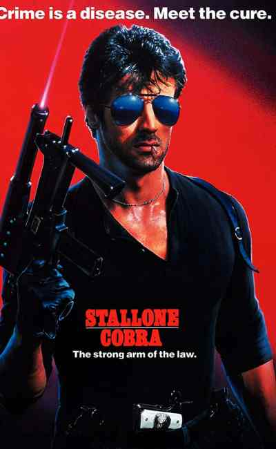 Stallone, jaquette DVD américain de Cobra de George P. Cosmatos