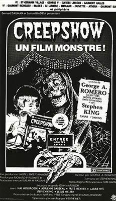Visuel promotionnel exclusif de Creepshow, issu en 1983