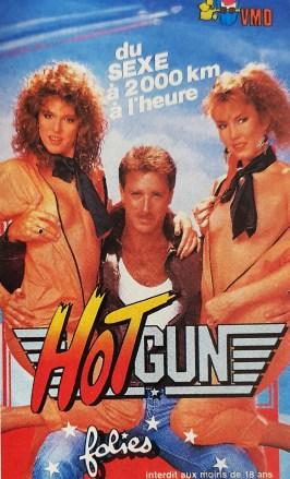 Hot Gun (Caballero Video), jaquette française, parodie de Top Gun