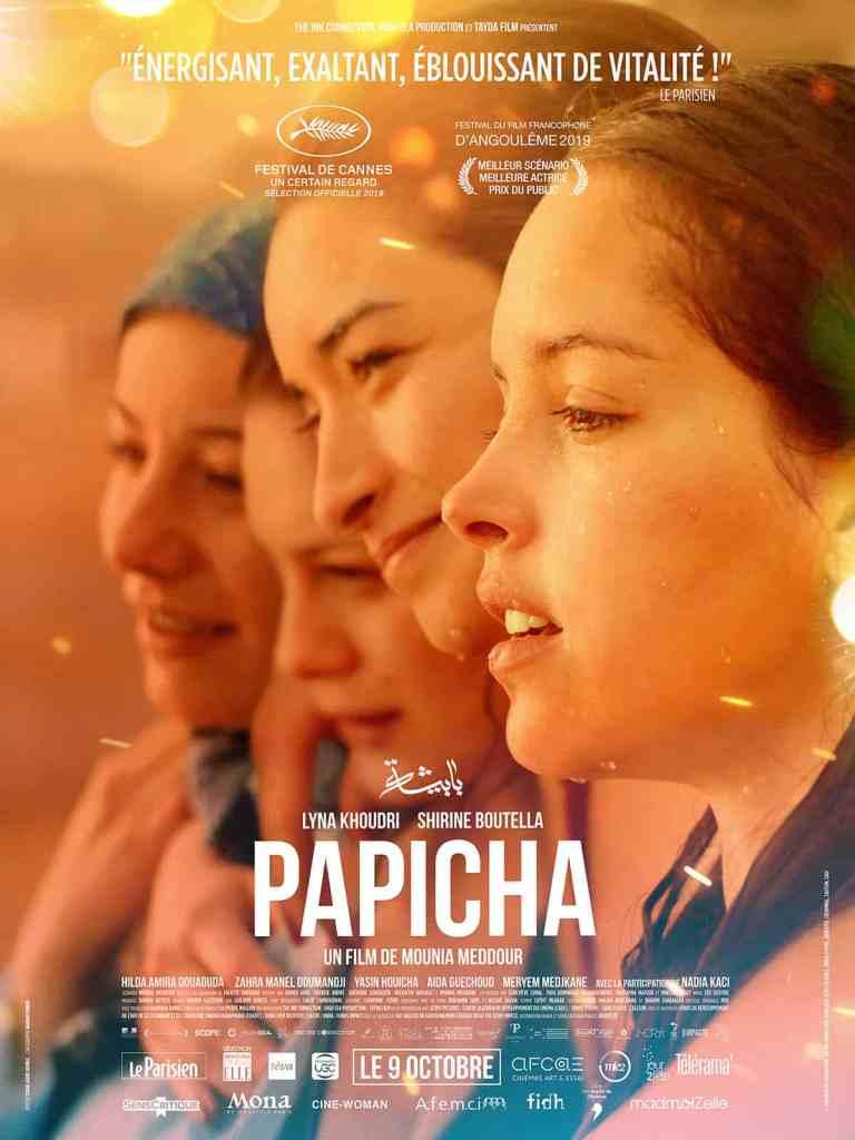 Papicha, affiche du film de Mounia Meddour