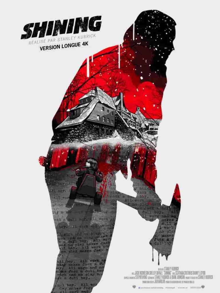 Affiche de la reprise 4K de The Shining en 2019