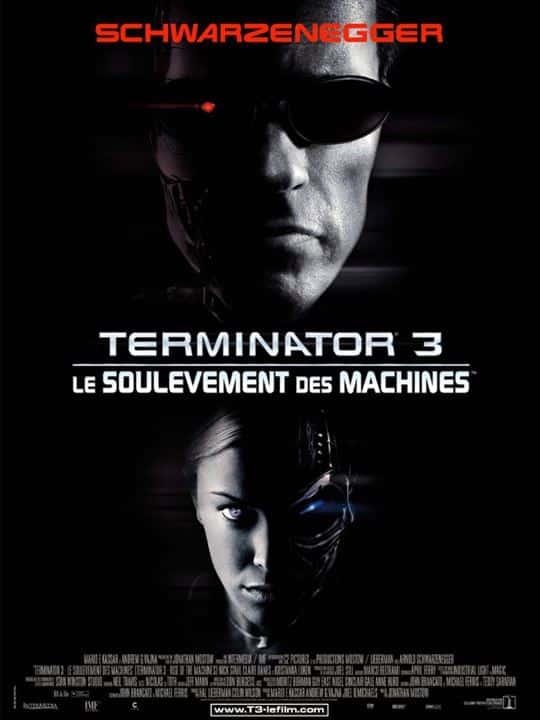 Terminator 3, le soulèvement des machines, affiche estivale