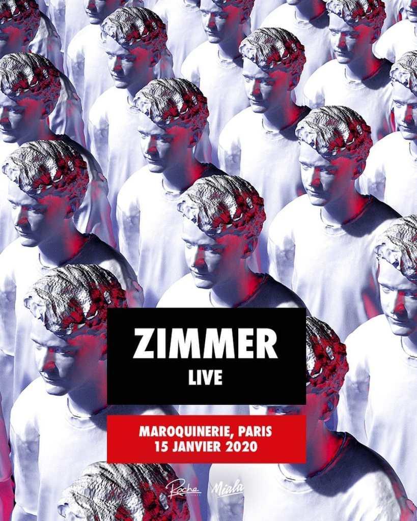 Zimmer en concert à la maroquinerie, à Paris, le 20 janvier 2020