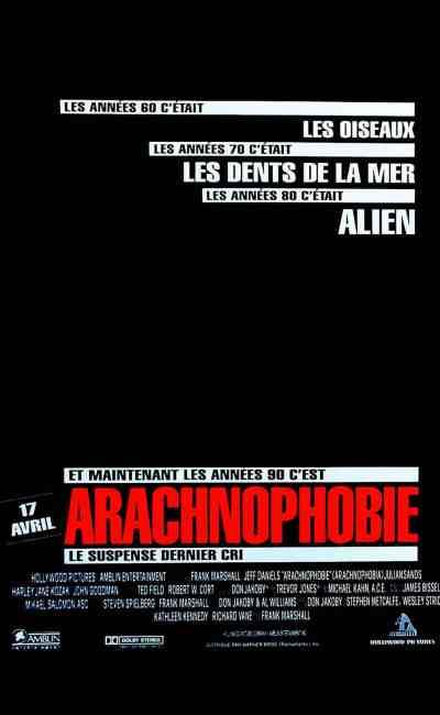 Teaser français Arachnophobie archives Frédéric Mignard