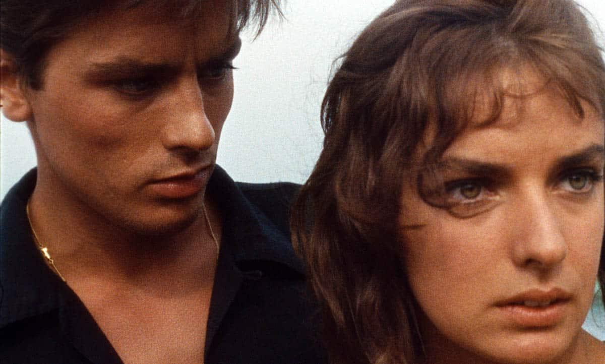 Marie Laforêt et Alain Delon dans Plein Soleil