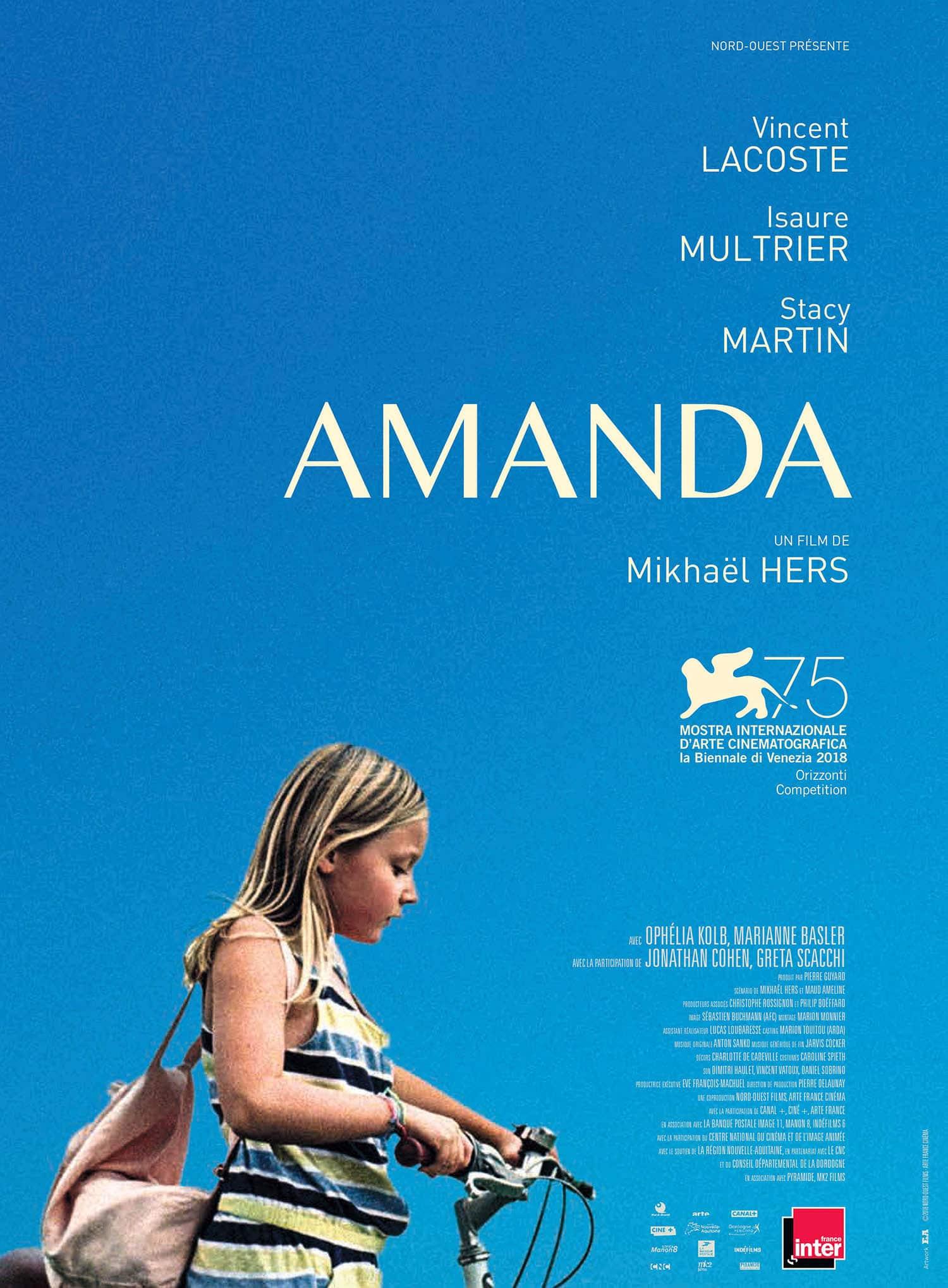 Amanda, l'affiche avec Isaure Multrier