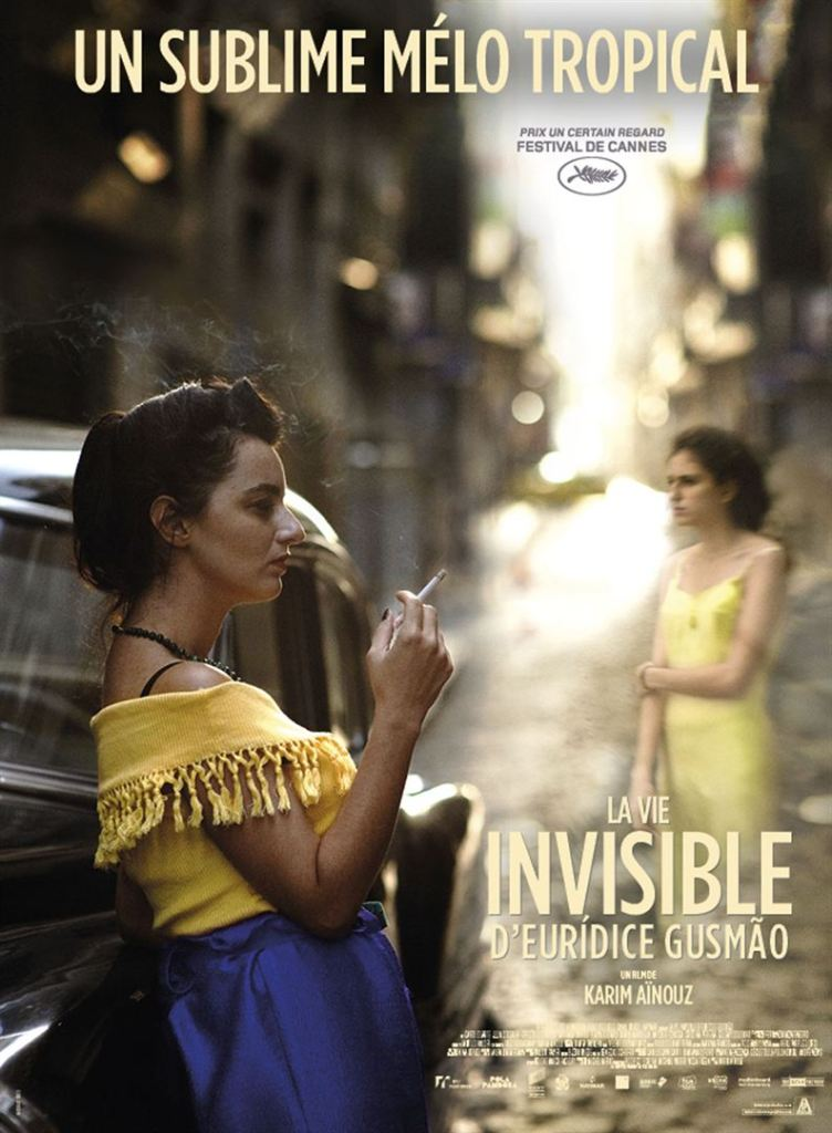 Affiche française de La Vie invisible d'Eurídice Gusmão de Karim Aïnouz