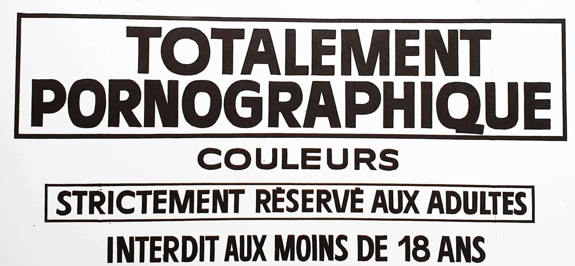 logo Pornographique issu des Orgies Graphiques (Maison Cocorico)