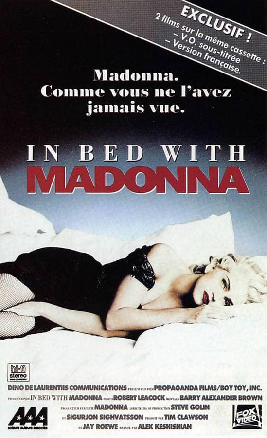 Madonna, jaquette VHS vidéocassette, French artwork