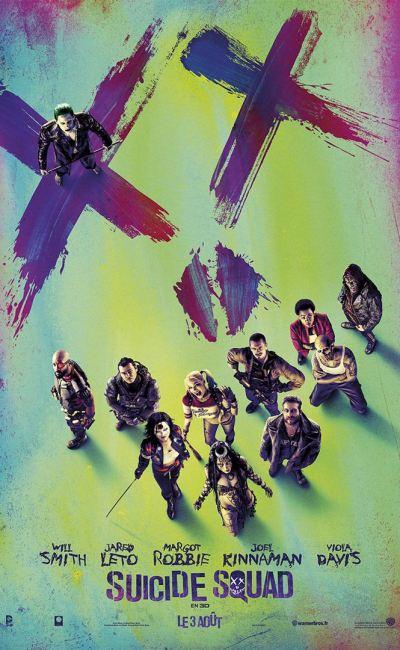 Suicide Squad dans son affiche teaser française
