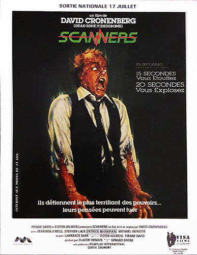 Affiche Reprise Scanners 1985